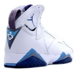 Nike Air Jordan 7 White  French Blue Flint Greyblack