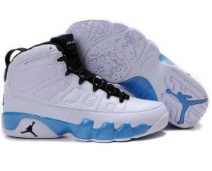 Nike Air Jordan 9 White Black University Blue